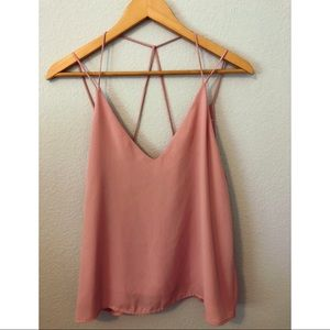 Strappy Pink Tank